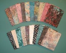 TOPAZ BATIKS Timeless Treasure Tonga, 20 Fat Quarters 100% Cotton  Quilt Fabric