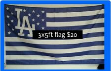 Los Angeles Dodgers flag LA Logo Stars & Stripes 3ftx5ft banner  American