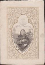 IMAGE PIEUSE SANTINI HOLY CARD JESUS CHRIST REDEMPTEUR Le Verbe s'est fait chair