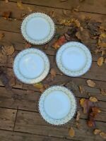 Set of 4 Sakura Debbie Mumm Santa's Spirit Dinner Plates Christmas Dinnerware