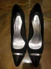 "Christian Siriano for Payless 4"" Heels Black Silver Pumps Shoes Size 9 US"
