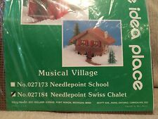 Mary Maxim Swiss Chalet music needlepoint kit #027184 new