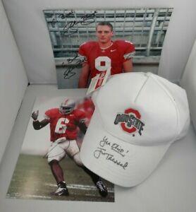 Ohio State Buckeyes JIM TRESSEL Signed HAT OSU FOOTBALL Autographed Photos
