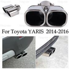 Double Outlets Exhaust Muffler Tail Pipe Tip Tailpipe for Toyota YARIS 2014-2018