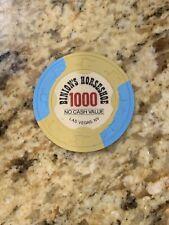 WSOP Binion's Horseshoe Las Vegas NV Casino Paulson NCV T1000 No Cash Value Chip
