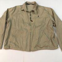 Polo by Ralph Lauren Men's Size XL Khaki Bomber Jacket