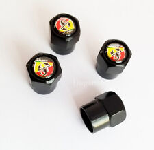 4Pcs Car Wheel Tire Air Valve Caps Tyre Dust Stems Covers Logo For Abarth 500