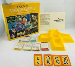 1984 Golden Trivia Game: Disney Edition Game in Great Condition FREE SHIPPING