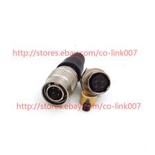 for Hirose HRS 4pin HR10A-7P-4P/HR10A-7P-4S Plug Socket for Camera Power Plug