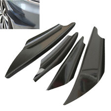 4x Universal Car Bumper Fin Spoiler Moulding Trim Wing Canards Lip Carbon Look