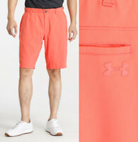 Under Armour UA Showdown Tapered Golf Shorts - CORAL- W30 W35 W40 W42 W44 RRP£55
