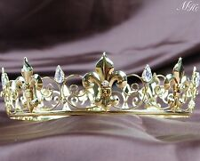 Imperial Medieval Golden Tiaras Full Wedding Bridal Crowns Pageant Party Prom