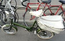 "Rare 1960s England Raleigh RSW Folding Bicycle 16"" Tires + Rare rear Pannier Bag"