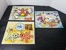 Lot of 3 Vintage 1961 Tuco Workshops Bob Bindig Children's Tray Puzzles - Rare