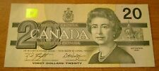 1991 Bank of Canada Bird Series $20 Banknote w/BPN Unc