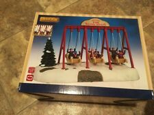LEMAX CHRISTMAS VILLAGE SWING BOATS-CARNIVAL RIDE  #64063