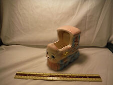 "Vintage New-Born Baby Train Planter 1960's ""Rock-A-Bye Baby"" Music Box"