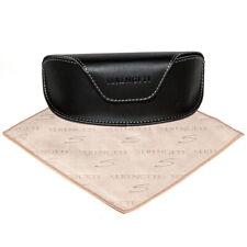 Serengeti Sunglasses Black Carrying Case & Serengeti Microsuede Cleaning Cloth