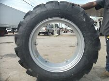 (2) 12.4x28 FORD JUBILEE 2N 8N Tractor Tires w/ Wheels & (2) 600x16 3 rib w/tube