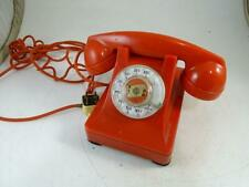 Vintage Red Emergency Rotary Dial Telephone Bell System Western Electric Retro