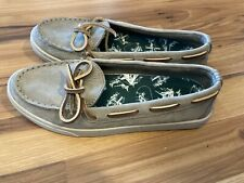 NEW LL Bean Women's Leather Boat Loafer Deck Shoes Size 7.5 M