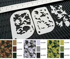 #xs Camouflage camo pattern Aerografo Stencil body face painting Army Tank MYLAR