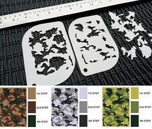 #XS CAMOUFLAGE Camo Pattern Airbrush Stencil Body Face Painting Army Tank Mylar