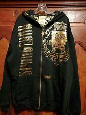 New SPONGEBOB SQUAREPANTS Black Gold Hoodie sweatshirt Jacket JH DESIGN 2X