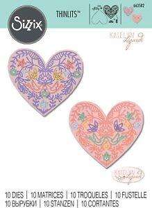 Sizzix Thinlits -  Lace Heart Die Set by Katelyn Lizardi