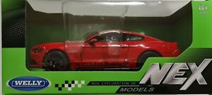 Welly 1:24-27 Ford Mustang GT 2015  Red Die Cast Model