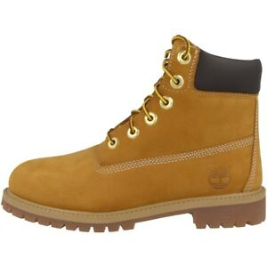 TIMBERLAND 6 INCH PREMIUM BOOTS YOUTH STIEFEL WHEAT BEIGE 12909