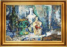 Jozsef Vati Signed Original Oil Painting-Hungarian Modernist Still Life