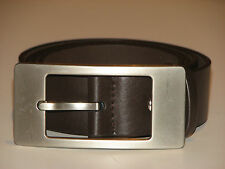 New Mens Brown Leather Belt Size 36  -  91cm     (B104)