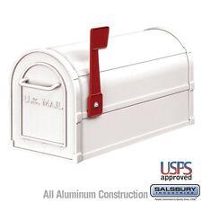"Salsbury Heavy Duty Rural Mailbox - White-MAILBOX 4850WHT 7.5"" x 9.5"" x 20.5"""
