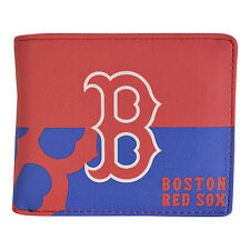 Brand New MLB Boston Red Sox Men Synthetic Leather Bi-Fold Wallet