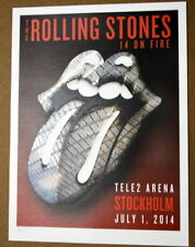 THE ROLLING STONES - 14 ON FIRE - TELE2 ARENA - STOCKHOLM - #396/500  LITHOGRAPH