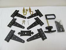 "New Heavy Duty Coop double door hardware kit: Kit 5""Hinges T Handle Barrel Bolts"