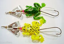 Pack of 2 Frog Spinner Plastic Spinning Lures.