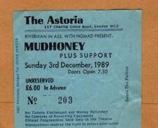 Rare early Nirvana Mudhoney ticket The Astoria London 03/12/89 #203