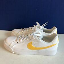Nike Women's Court Royale Ac Canvas Sneaker White/Topaz Gold