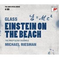 """THE PHILIP GLASS ENSEMBLE """"EINSTEIN ON THE..."""" 4 CD NEU"""