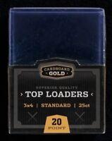 25ct Ultra CBG Pro Sports Card Toploaders Topload MTG Pokemon + 100 Soft Sleeves