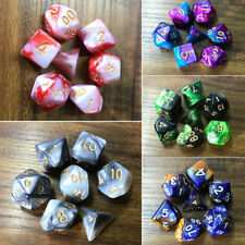 7pcs/Set TRPG Game Dungeons & Dragons Polyhedral D4-D20 Multi Sided Acrylic Dice