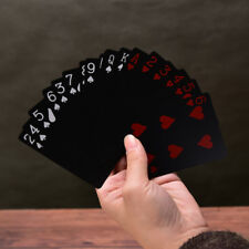 Waterproof Black Plastic Playing Cards Collection Poker Cards Board Games CSY