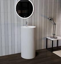 "Bathroom Pedestal Sink - Freestanding Pedestal Sink - Modern Sink - 18"""