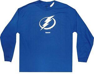 Tampa Bay Lightning Logo Long Sleeve Reebok T Shirt  Clearance!