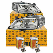 Hella Headlight Set Opel Astra G Built 98-09 Incl. Philips H7/HB3 Electric Lwr