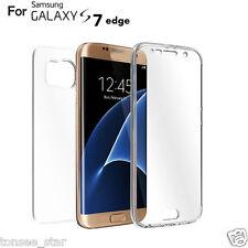 TPU Crystal Clear Abdeckung Ganzkörper Schutzhülle für Samsung Galaxy S7 Edge