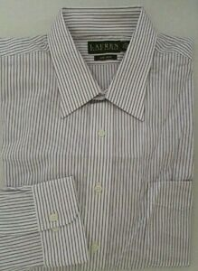 NWT LAUREN Ralph Lauren Non Iron Dress Shirt w/Pocket Sz 17 1/2 32/33