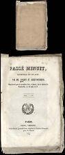 Théâtre Lockroy et Anicet-Bourgeois passés de minuit du vaudeville paris 1839